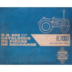 Renault D30, N71, E71 et V71 (R7051), catalogue de pièces