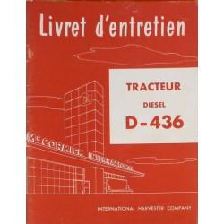McCormick D-436 Diesel, notice d'entretien