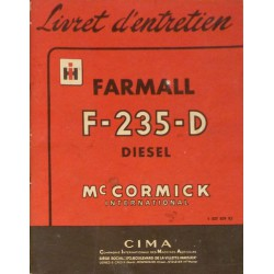Farmall Diesel F-235-D, notice d'entretien