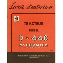 Farmall Diesel D-440, notice d'entretien