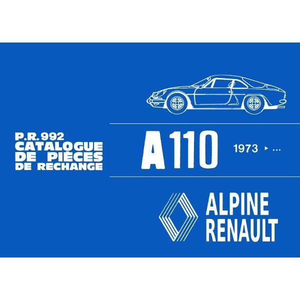 alpine a110 depuis 1973 catalogue de pi ces. Black Bedroom Furniture Sets. Home Design Ideas