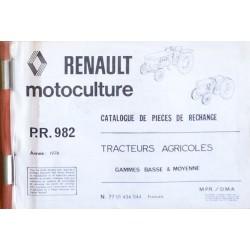 Renault gamme basse et moyenne années 70, catalogue de pièces