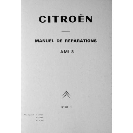 Citroën Ami 8, manuel de réparation