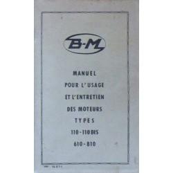 Bernard-Moteurs 110, 110bis, 110ter, 610, 610A, 810, notice d'entretien originale