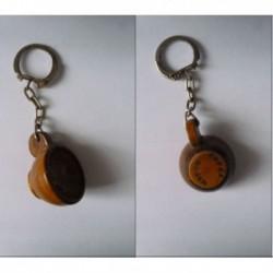 porte-clés café Roger, tasse bois (pc)