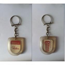 porte-clés chocolat Poulain, château Chenonceaux rouge (pc)