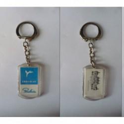 porte-clés chocolat Poulain bleu, château Chambord (pc)