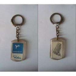 porte-clés chocolat Poulain bleu, château Blois (pc)