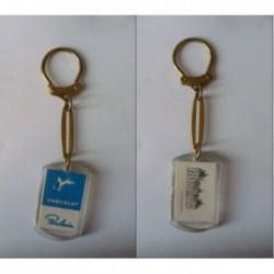 porte-clés chocolat Poulain bleu, château Cheverny (pc)