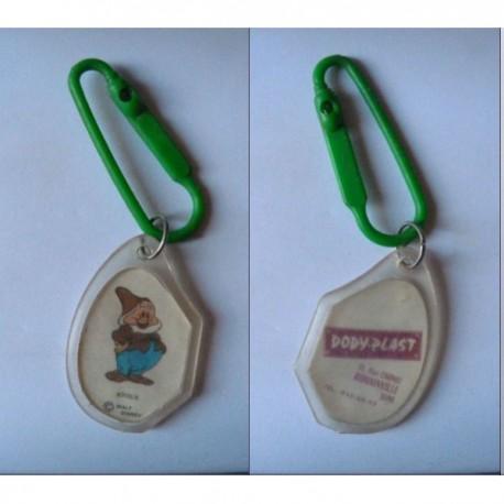 porte-clés Dody-Plast, Joyeux Blanche neige, plastique Romainville (pc)