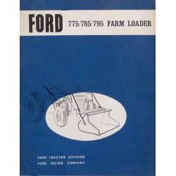 Ford chargeur 775, 785, 795, notice d'utilisation