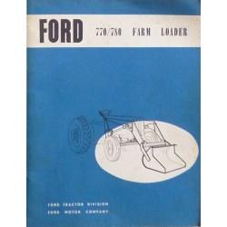 Ford chargeur 770, 780, notice et catalogue de pièces
