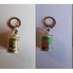 porte-clés boite Olives Crespo, reines noires, Comolive, Sète (pc)