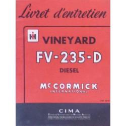 McCormick IH Vineyard FV-235-D, notice d'entretien