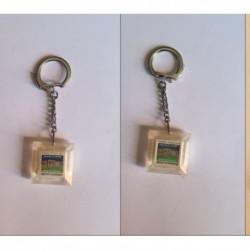 porte-clés carré frais double crème Gervais (pc)