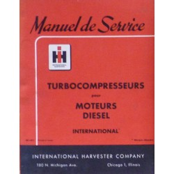 McCormick IH turbocompresseur de moteur Diesel, manuel de réparation