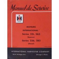 International moteurs séries 221, 263, 236 et 282, manuel de réparation