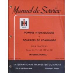 International pompe et soupapes de commande Hydreco, manuel de réparation