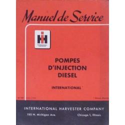 Pompes d'injection moteurs International 4 et 6 cyl. Diesel, manuel de réparation
