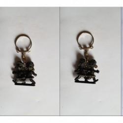 Porte-clés 2 petits noirs, fillettes sans marque (pc)