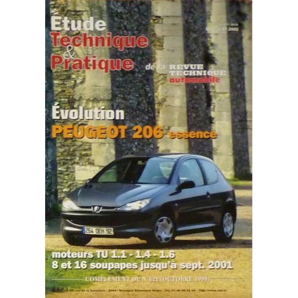 rta revue technique automobile peugeot 206 essence 1 1 1 4 1 6. Black Bedroom Furniture Sets. Home Design Ideas