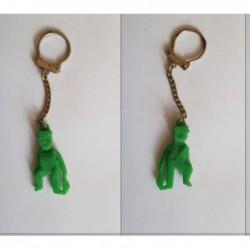 porte-clés ouvrier avec brosse, vert, CDP CDF (pc)