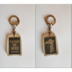 porte-clés Casino de Mers, Somme, girafe (pc)