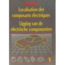 Localisation des composants électriques 1981-92, recueil Autodata n°1