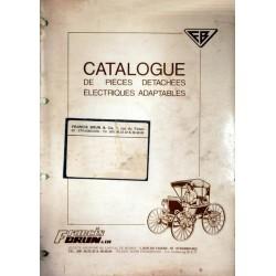 Francis Brun, catalogue pièce détachées adaptables 1968