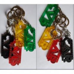 porte-clés réglisse Car depuis 1838, lot 4 couleurs (pc)