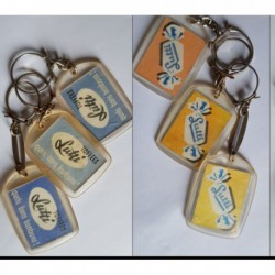 porte-clés Lutti Toffées, bon bonbons, lot 3 couleurs diff. (pc)