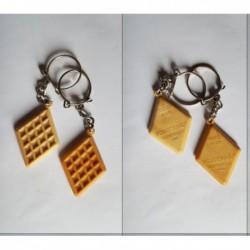 porte-clés biscuit gaufrettes Mousse d'Or, Rouger et Cie, Montreuil, lot 2 (pc)