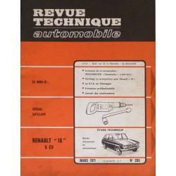 rta revue technique automobile renault 16l 16tl 16ta type r1152 et r1153. Black Bedroom Furniture Sets. Home Design Ideas