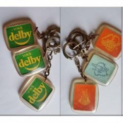 porte-clés vins Delby, lot 3 différents (pc)
