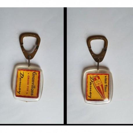 porte-clés grand vin fin Granvillons Damoy (pc)