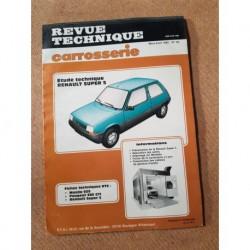Technique carrosserie Renault Supercinq et GT Turbo