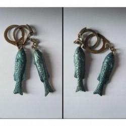 porte-clés lot 2 poisons sardines Amieux, différentes (pc)