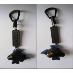 porte-clés moule poisson Caravelle, vraie moule (pc)