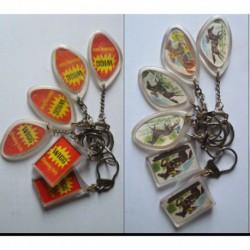 porte-clés chewing gum Wigg, lot 6 chevaux tiercé (pc)