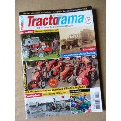 Tractorama n°71, Massey Ferguson MF168, Renault 4 roues motrices, New Holland prototype