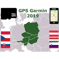carte 2019 Pologne Rép Tchèque Slovaquie Autriche Hongrie Slovénie. microSD GPS Garmin nuvi zumo edge