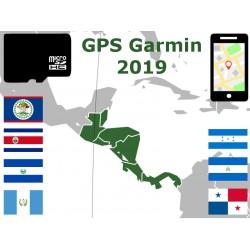 carte 2019 Belize Costa Rica Salvador Guatemala Honduras Nicaragua Panama. microSD GPS Garmin