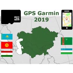 carte 2019 Kazakhstan Ouzbékistan Kirghizistan Turkménistan Tadjikistan. microSD GPS Garmin nuvi zumo edge oregon