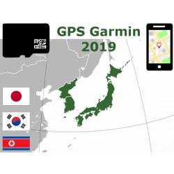 carte 2019 Japon Corée du Sud et du Nord. microSD GPS Garmin nuvi zumo edge oregon