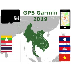 carte 2019 Birmanie Thaïlande Laos Cambodge Viêt Nam. microSD GPS Garmin nuvi zumo edge oregon