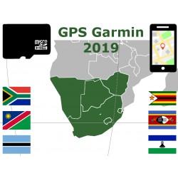 carte 2019 Afrique Sud Namibie Bostwana Zimbabwe Lesotho Swaziland. microSD GPS Garmin