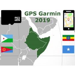 carte 2019 Érythrée Éthiopie Djibouti Somalie. microSD GPS Garmin nuvi zumo edge oregon