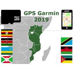 carte 2019 Ouganda Kenya Tanzanie Mozambique Rwanda. microSD GPS Garmin nuvi zumo edge oregon