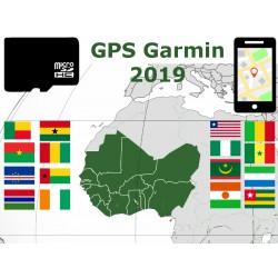 carte 2019 Sénégal Nigeria Côte d'Ivoire Ghana Togo Bénin Mali. microSD GPS Garmin nuvi zumo edge oregon