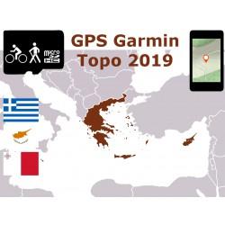 carte topo 2019 Grèce Chypre Malte. microSD GPS Garmin edge oregon gpsmap etrex